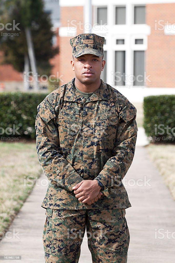 Marine on a Path stock photo