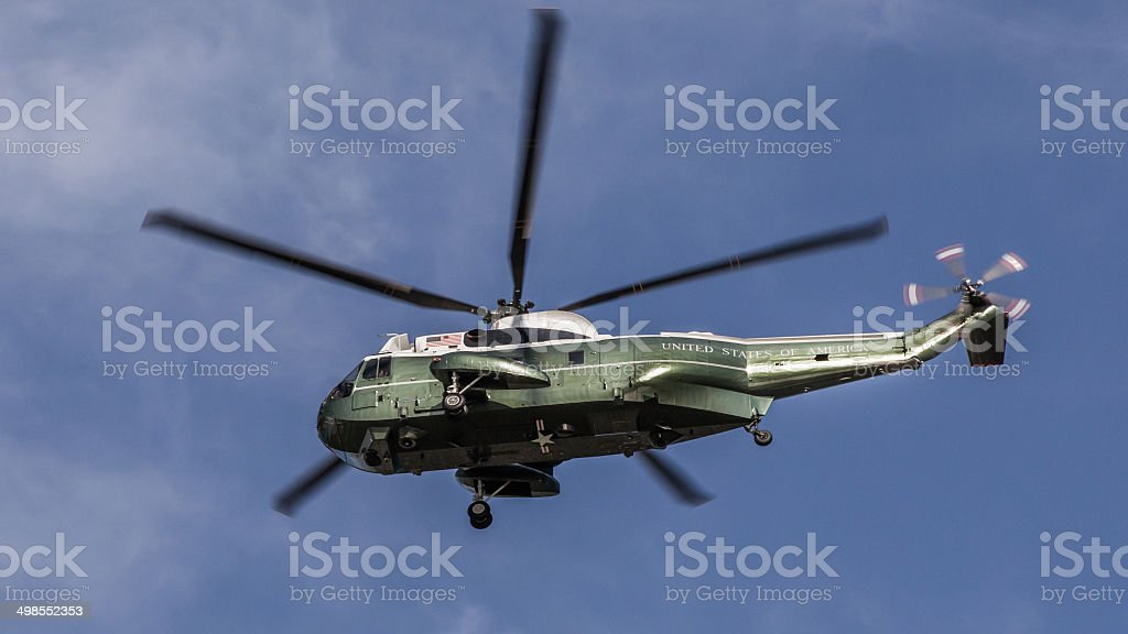 Marine One Presidential Helicopter stock photo