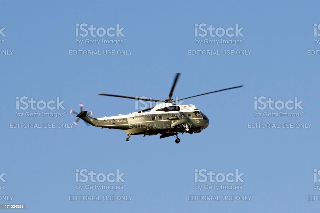 Marine One presidential helicopter royalty-free stock photo