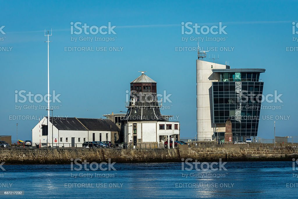 Marine Operations Tower and Roundhouse stock photo