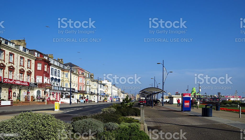 Marine Parade, Great Yarmouth, Norfolk royalty-free stock photo