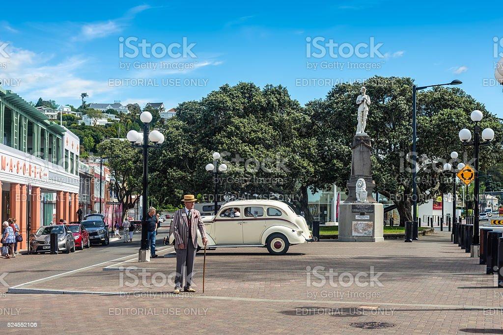 Marine Parade, Napier, New Zealand stock photo