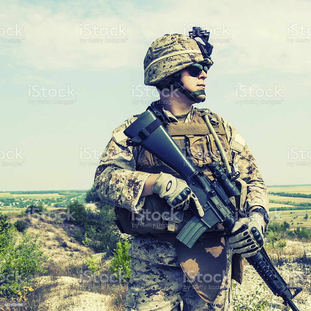 US marine stock photo
