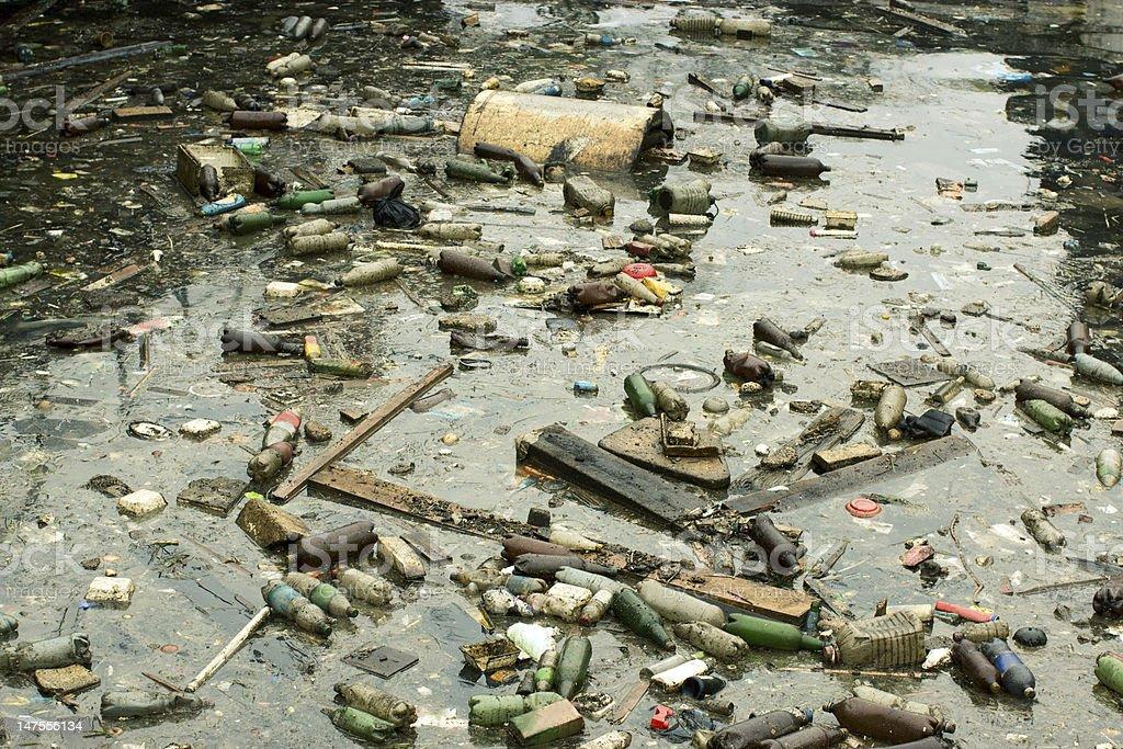 marine pollution royalty-free stock photo