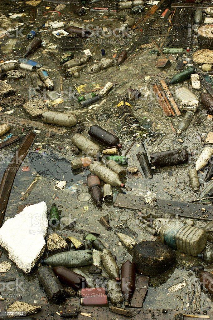 marine pollution stock photo