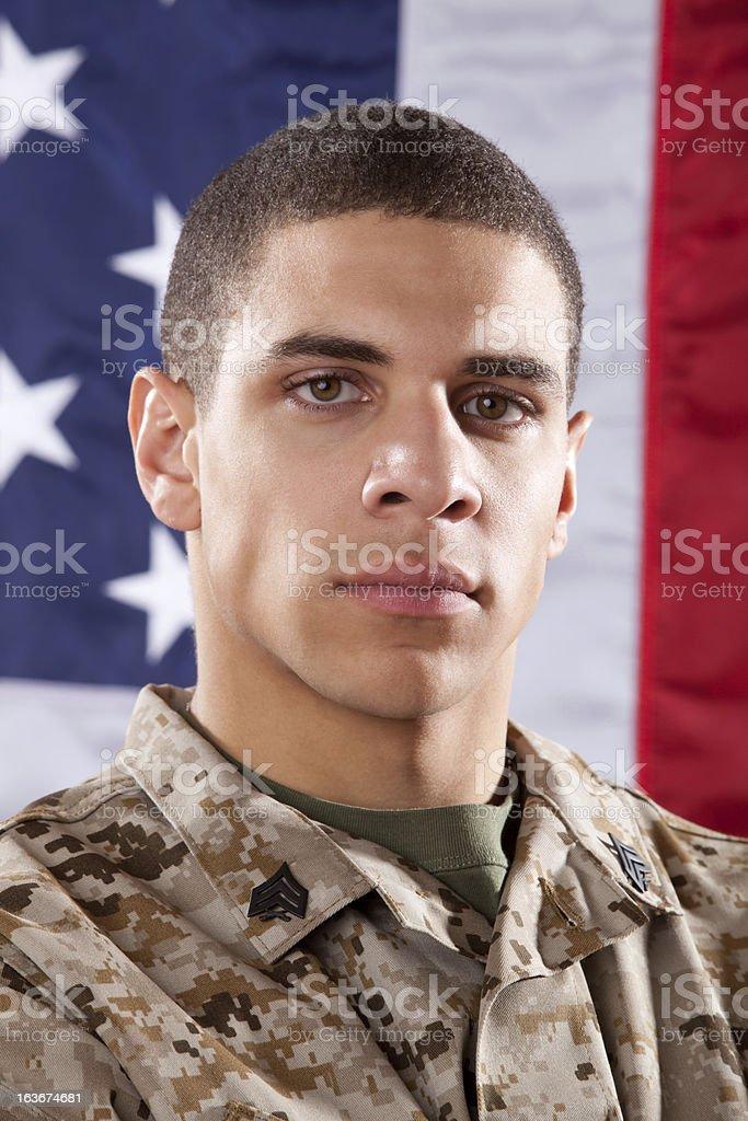 US Marine Portrait royalty-free stock photo