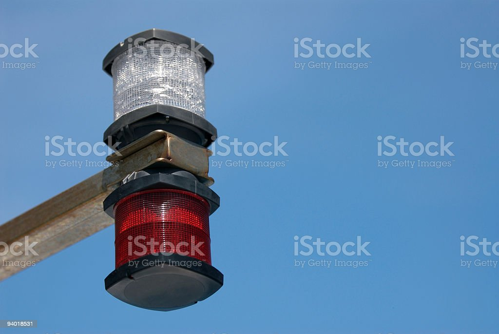 Marine Position lights stock photo