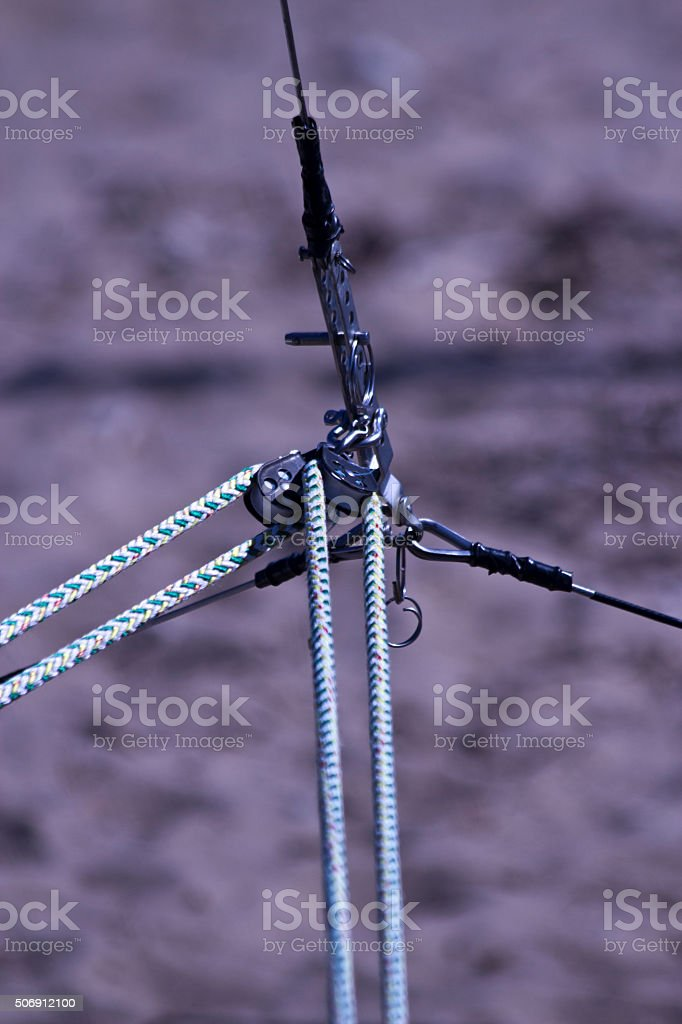 Marine Rope And Hardness stock photo