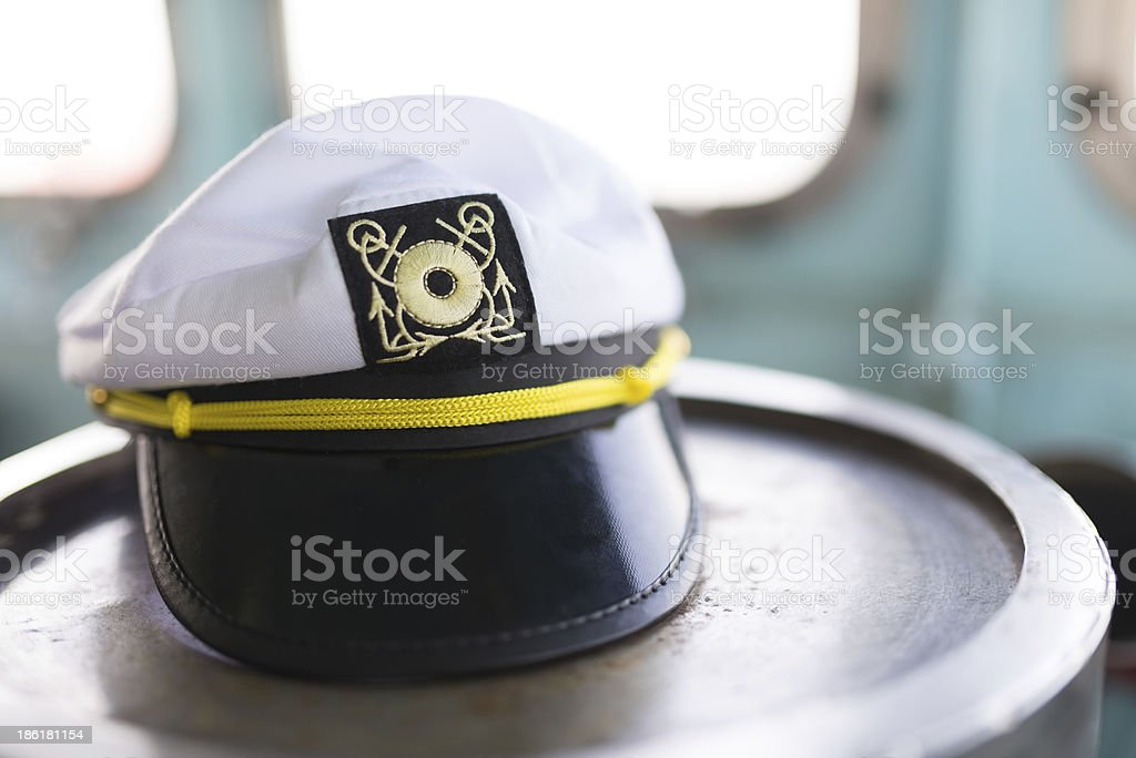Marine sailor hat stock photo