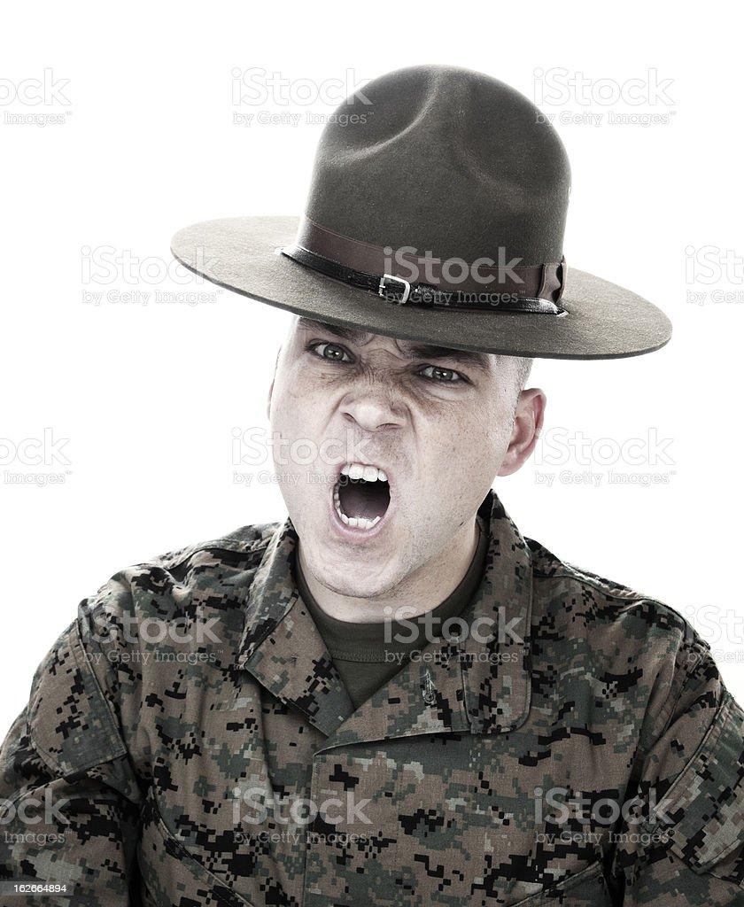 Marine Screaming royalty-free stock photo