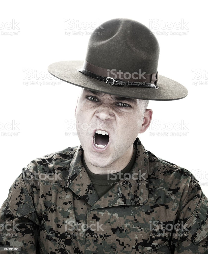 Marine Screaming stock photo