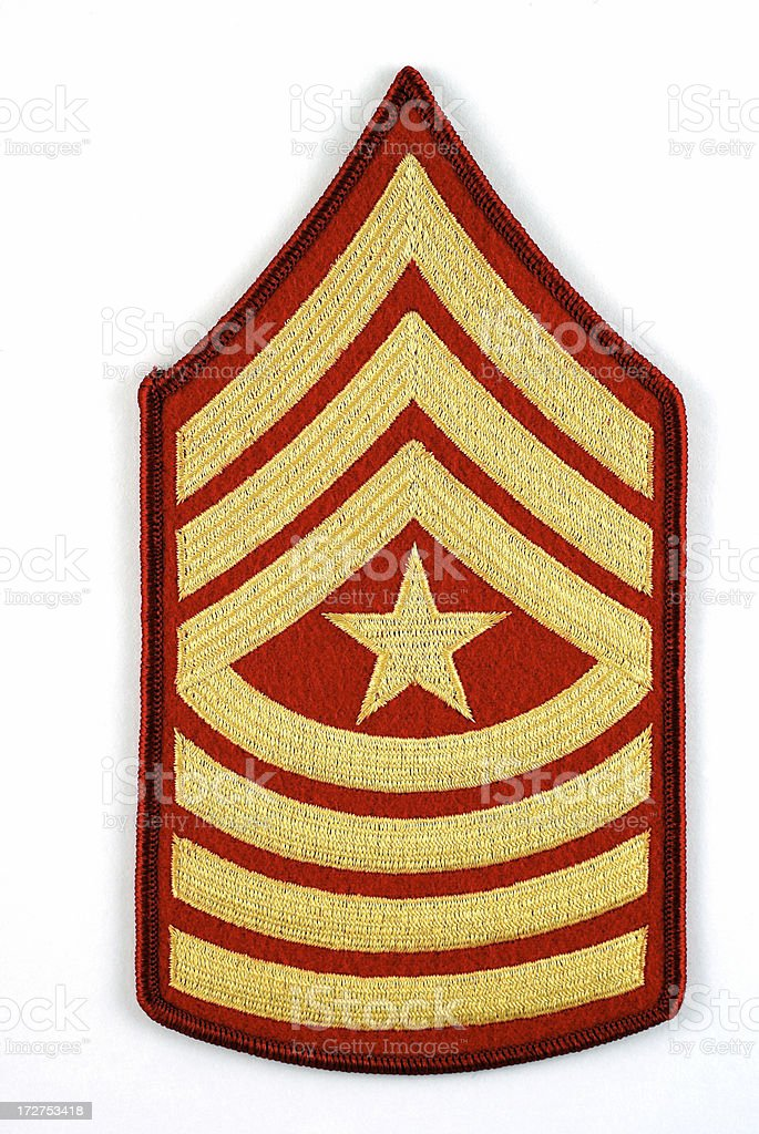 Marine Sergeant Major Rank Insignia stock photo