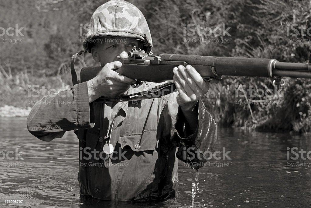 Marine Sniper. stock photo