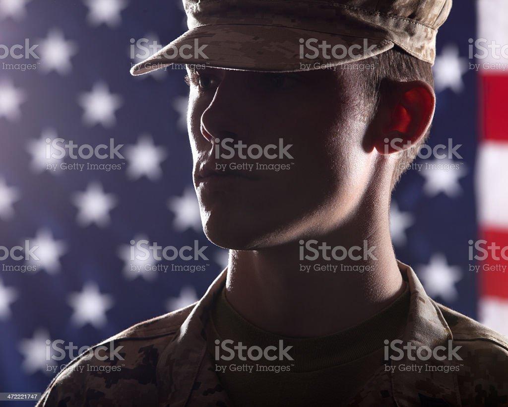 U S Marine Soldier royalty-free stock photo