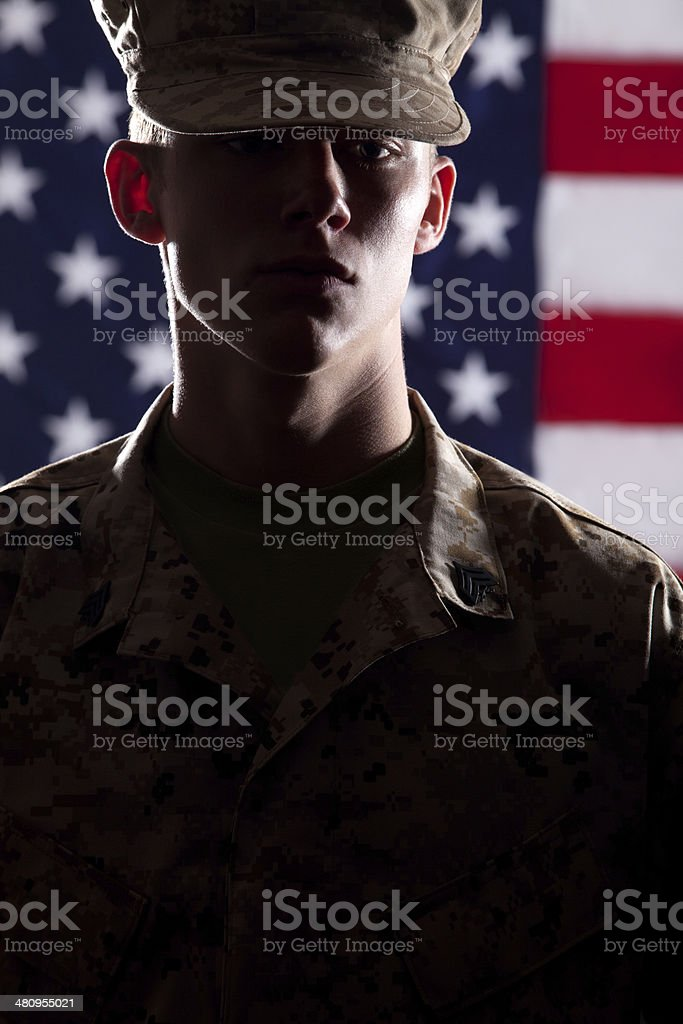 U S Marine Soldier royalty-free stock photo