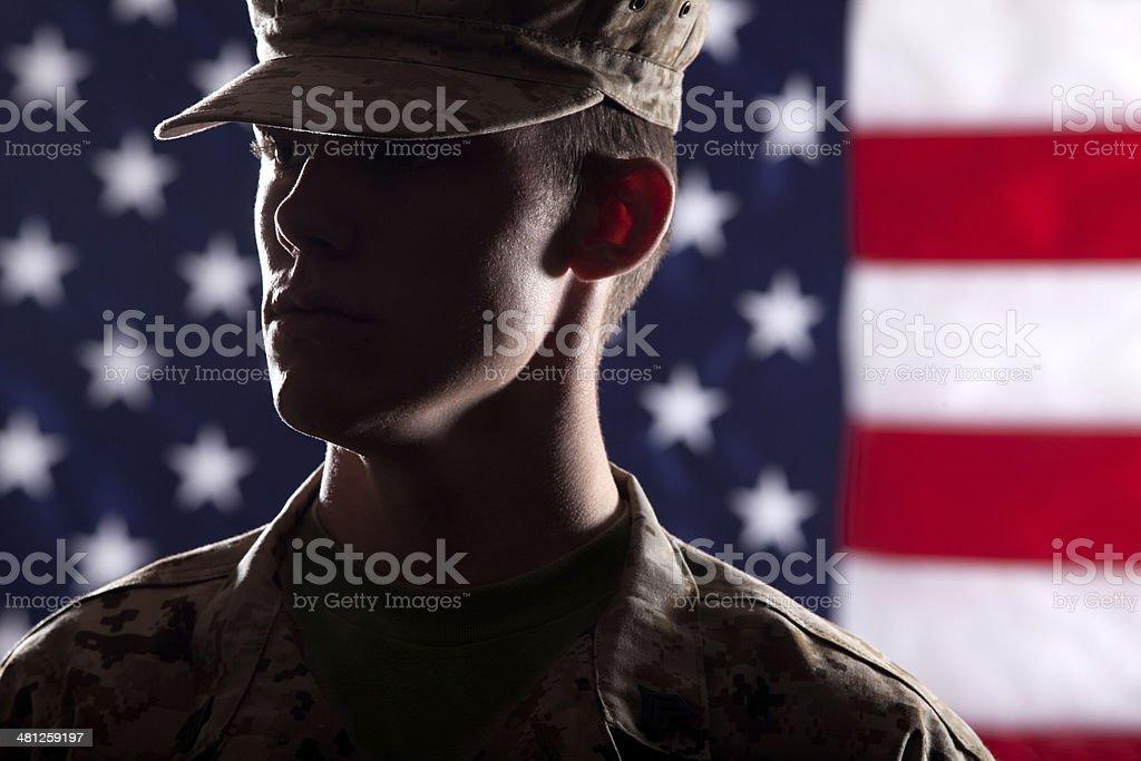 U S Marine Soldier stock photo