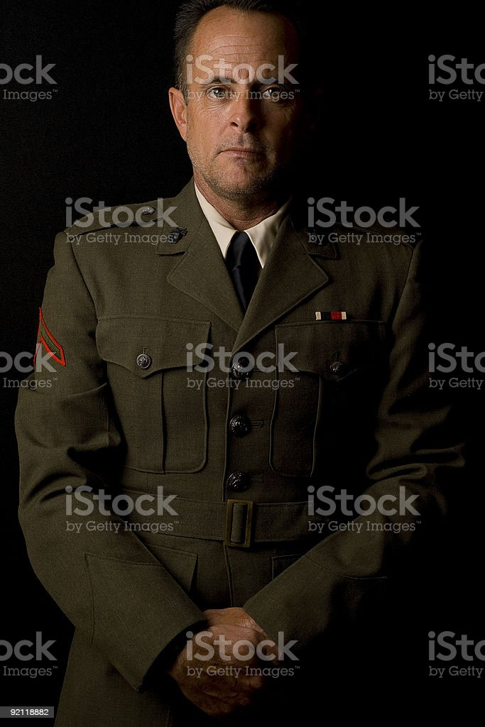 Marine Soldier Posing royalty-free stock photo