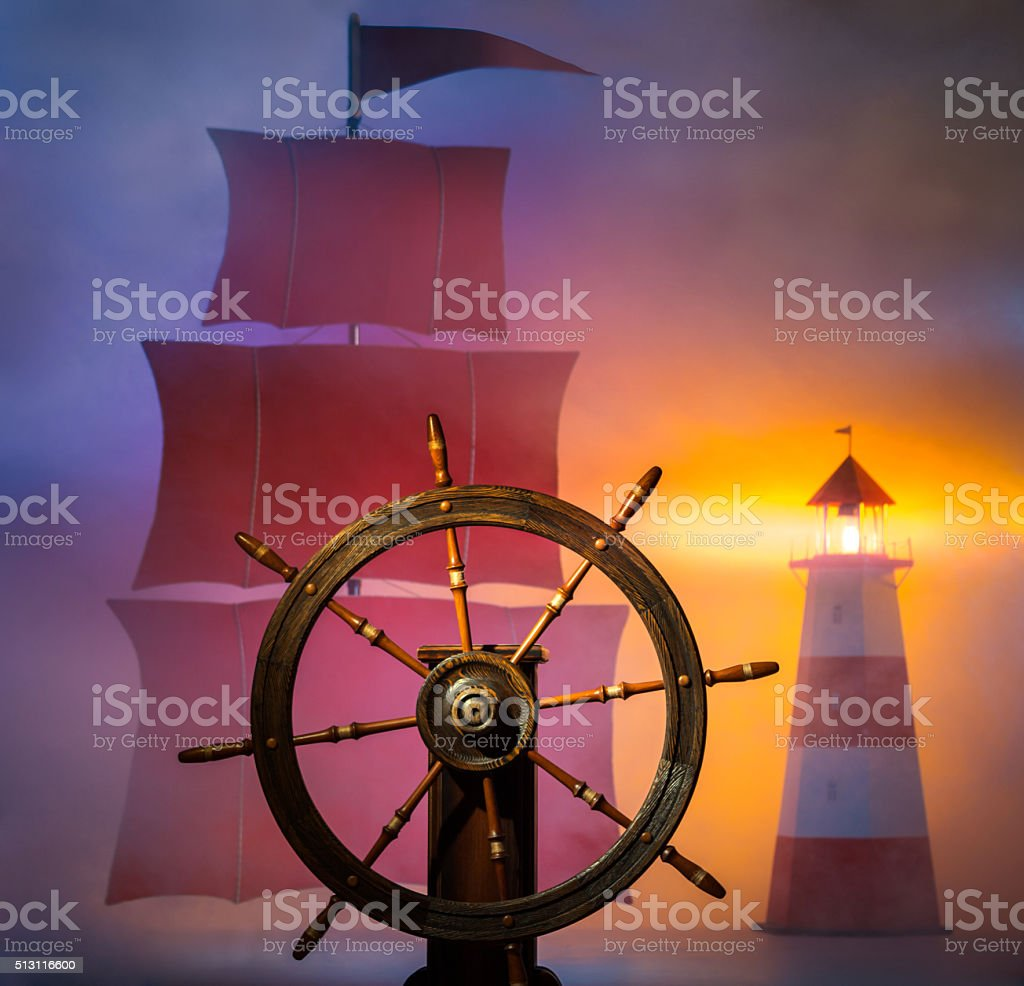 Marine Theme stock photo