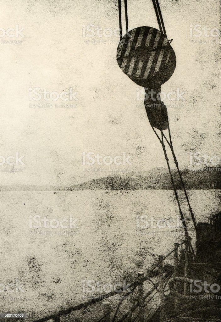Marine theme. stock photo