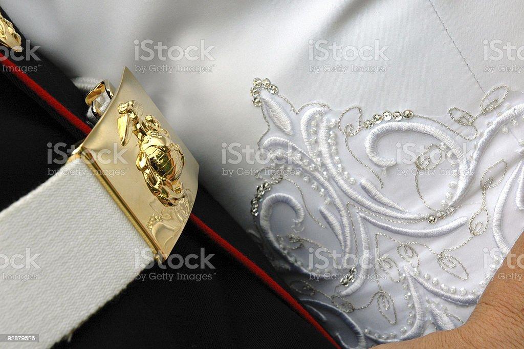 marine wedding royalty-free stock photo