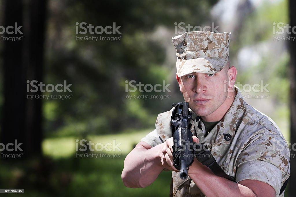 Marine with Rifle royalty-free stock photo