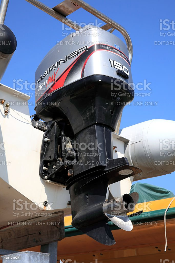 Mariner Outboard Motor stock photo