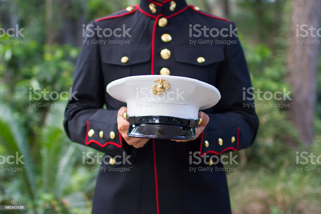 Marine's Dress Blues stock photo