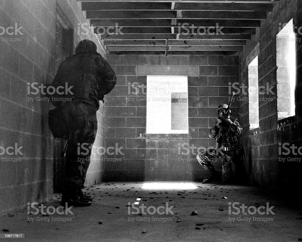 Marines in Building stock photo