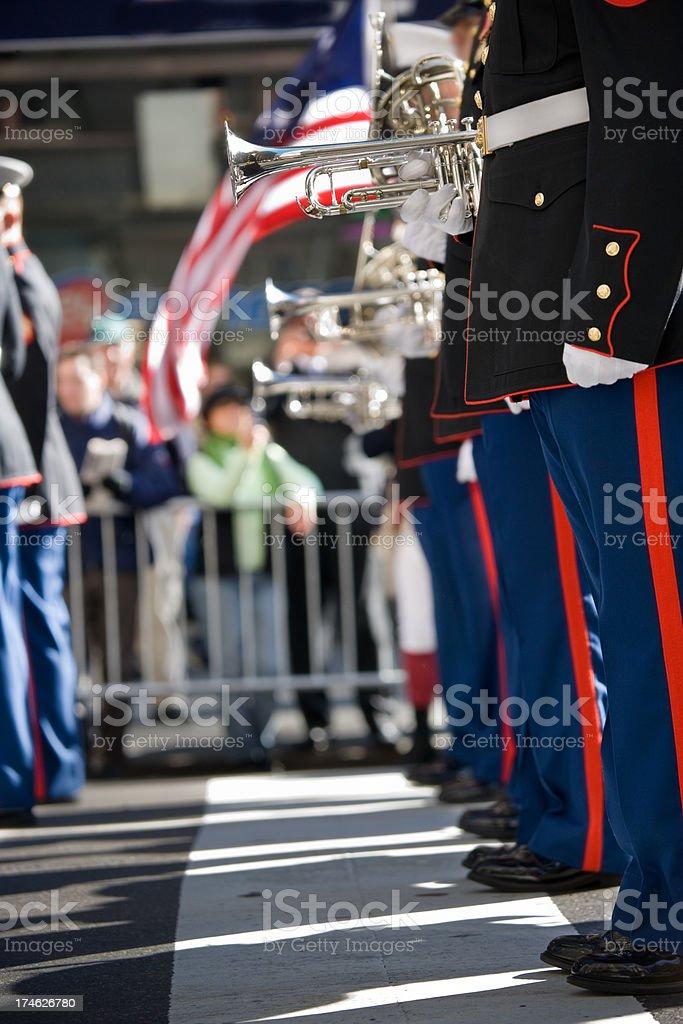 US Marines Marching band royalty-free stock photo