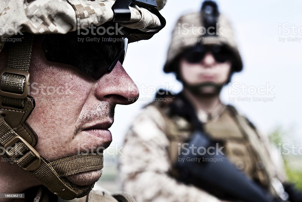 US marines stock photo
