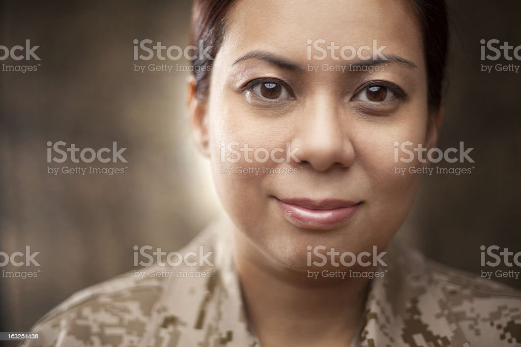US Marines Portrait stock photo