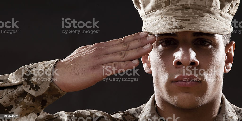 US Marines Portrait royalty-free stock photo