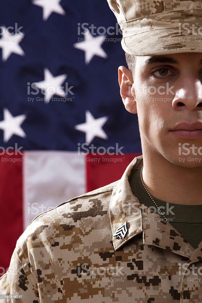 US Marines Soldier Portrait stock photo