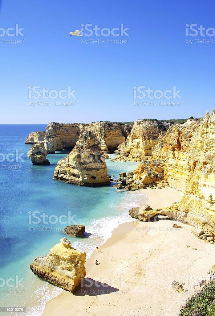 Marinha Beach,  Lagoa , Algarve. stock photo