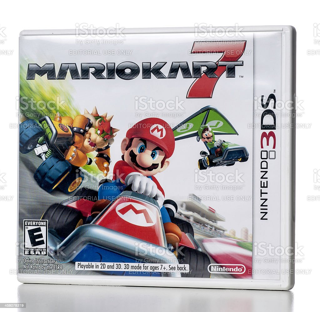 Mariokart 7 video game for Nintendo 3DS console stock photo
