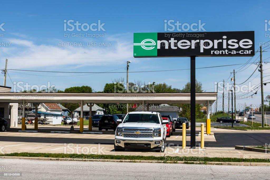 Marion - Circa April 2017: Enterprise Rent-A-Car Local Rental Location. Enterprise Rent-A-Car is the largest rental car company in the US II stock photo