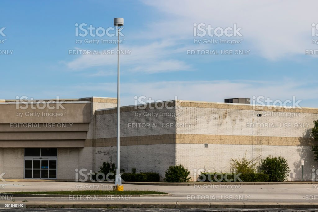 Marion - Circa April 2017: Recently shuttered Sears Retail Mall Location. According to a regulatory filing, Sears Holdings Corp. lost more than $2 billion in 2016 IX stock photo