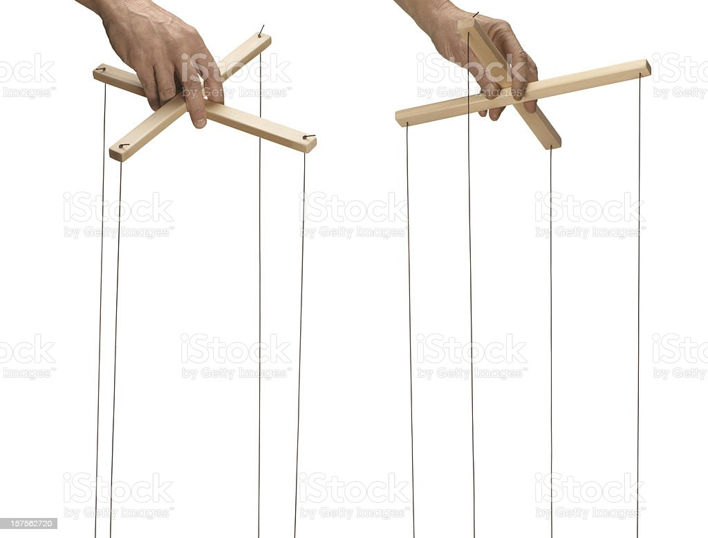 Marionette control bar stock photo