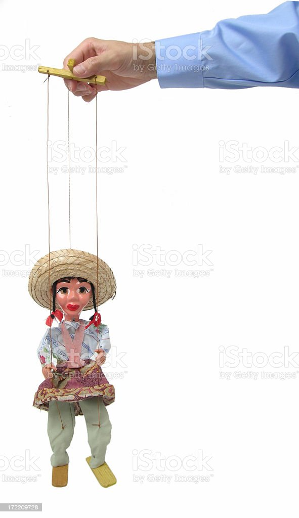 Marionette on a string royalty-free stock photo