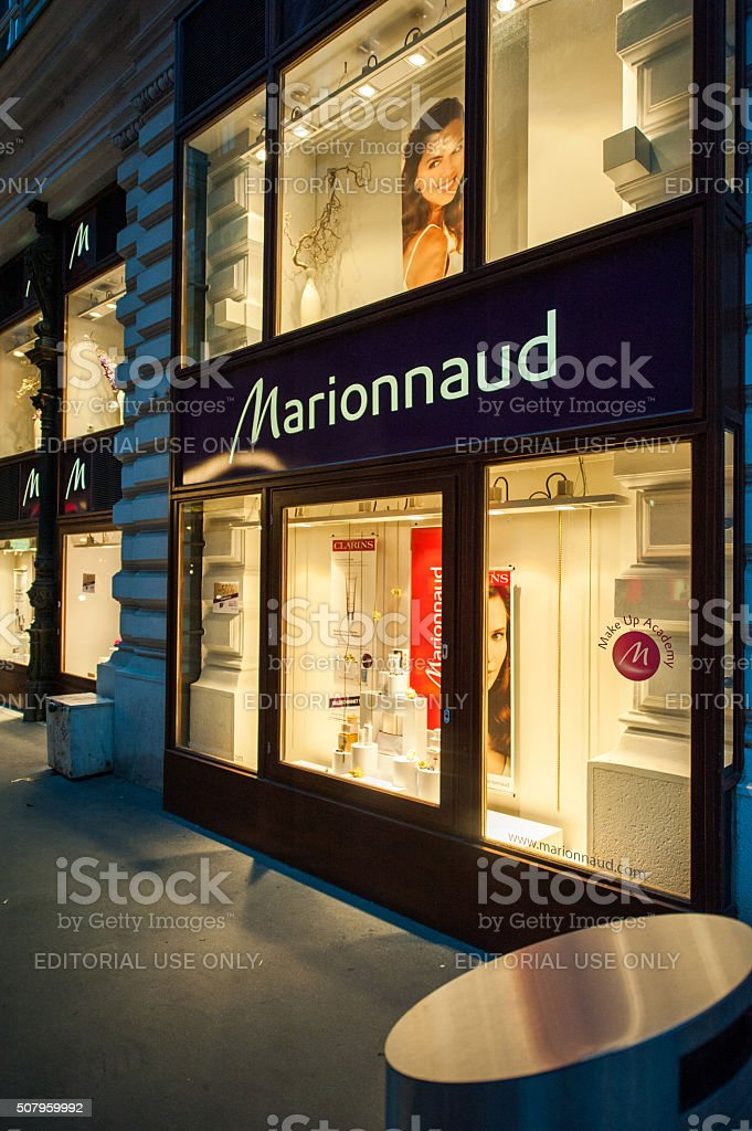 Marionnaud beauty and fragrance store facade stock photo