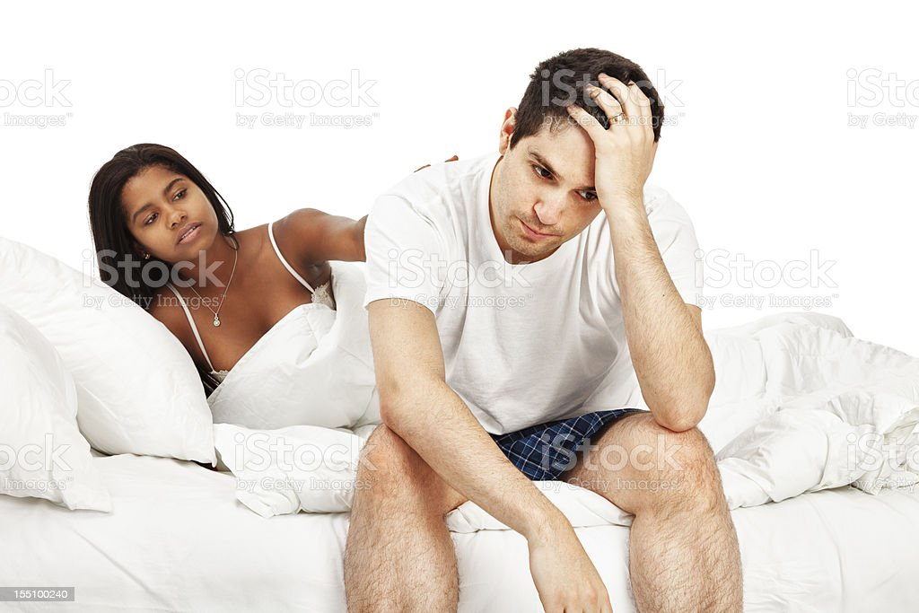 Marital Problems in the Bedroom royalty-free stock photo