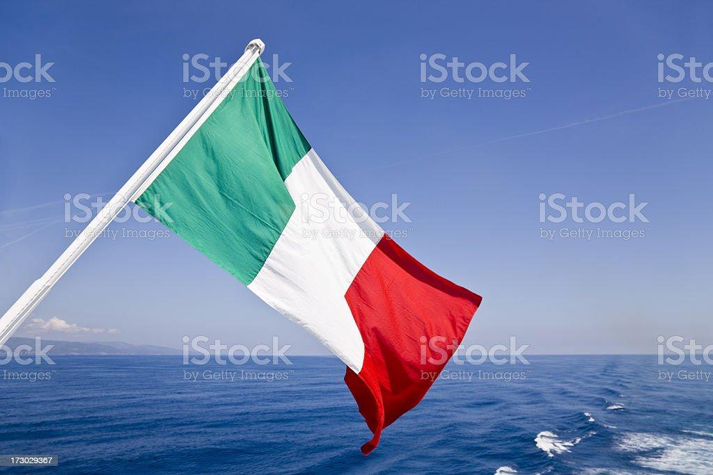 Maritime Italian Flag stock photo