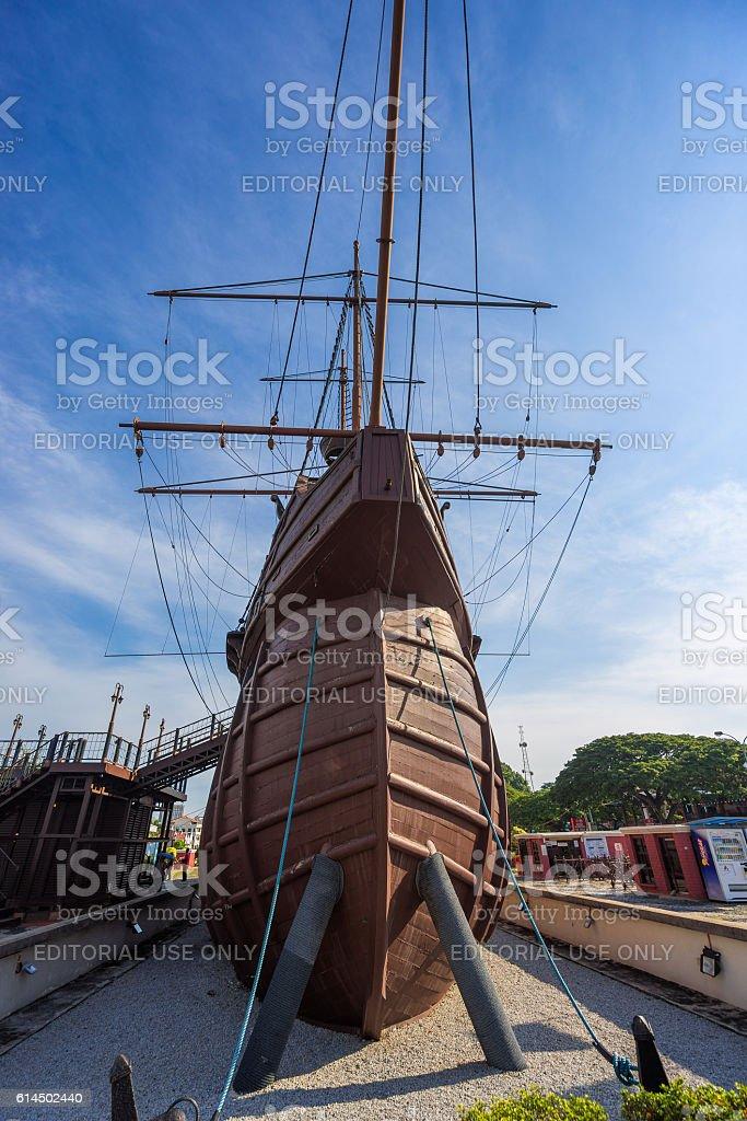 Maritime Museum in Malacca City, Malaysia stock photo