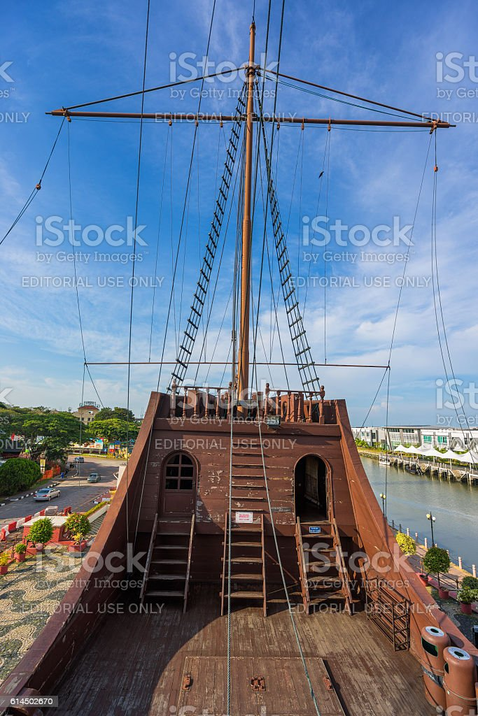 Maritime Museum in Malacca City, Malaysia stock photo