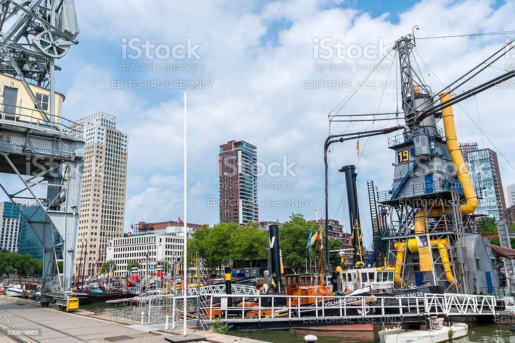 Maritime Museum Rotterdam stock photo