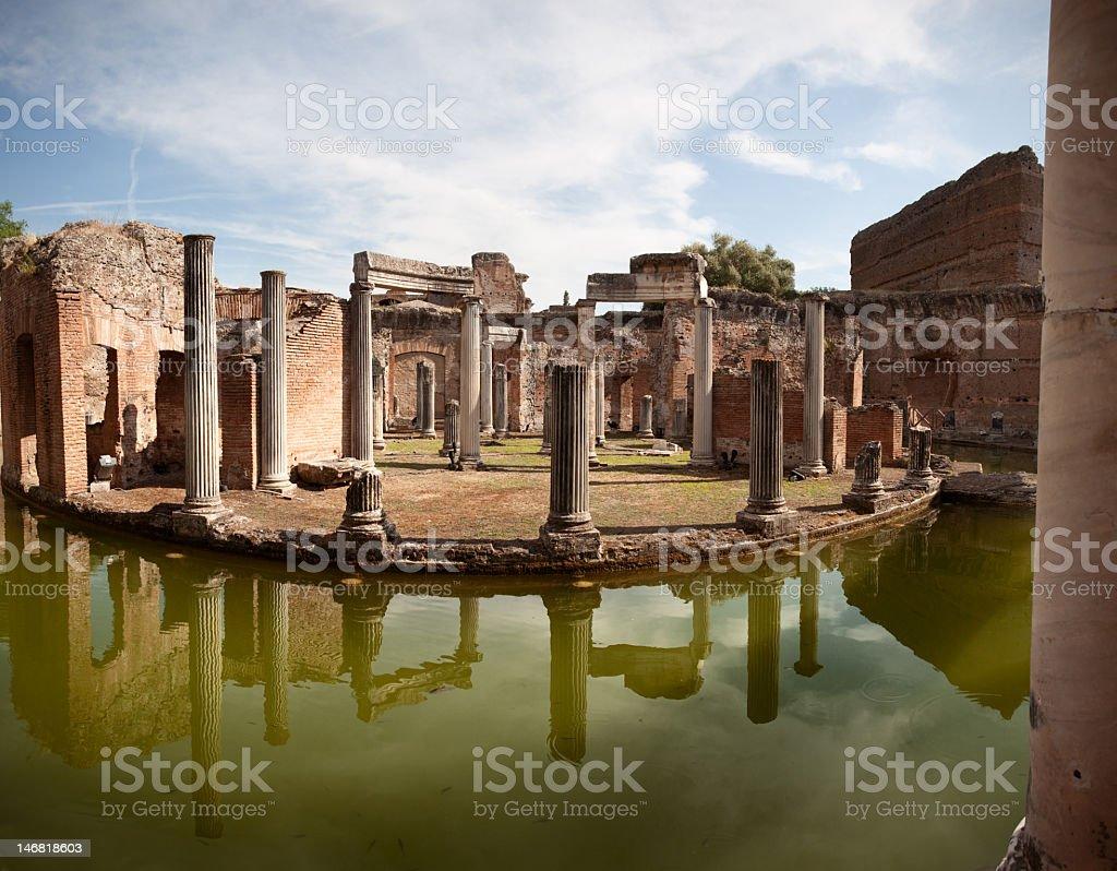 Maritime Theater at Hadrian's Villa stock photo