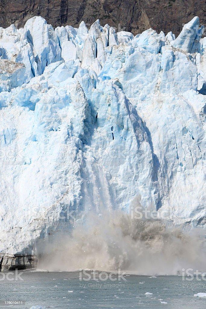 Ghiacciaio Marjerie rottura dei ghiacci foto stock royalty-free