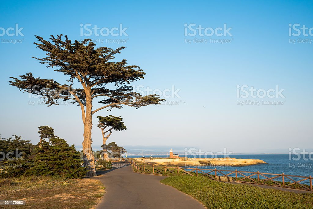 Mark Abbott Memorial Lighthouse in Santa Cruz California stock photo