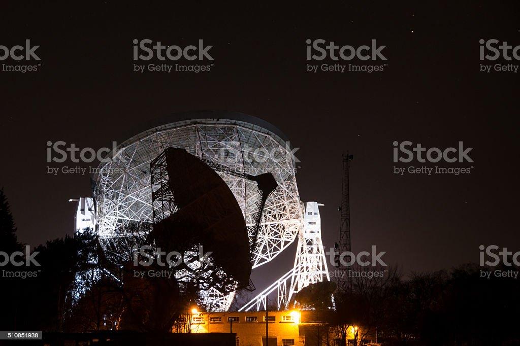 Mark II and Lovell Radio Telescope, Jodrell Bank Observatory stock photo