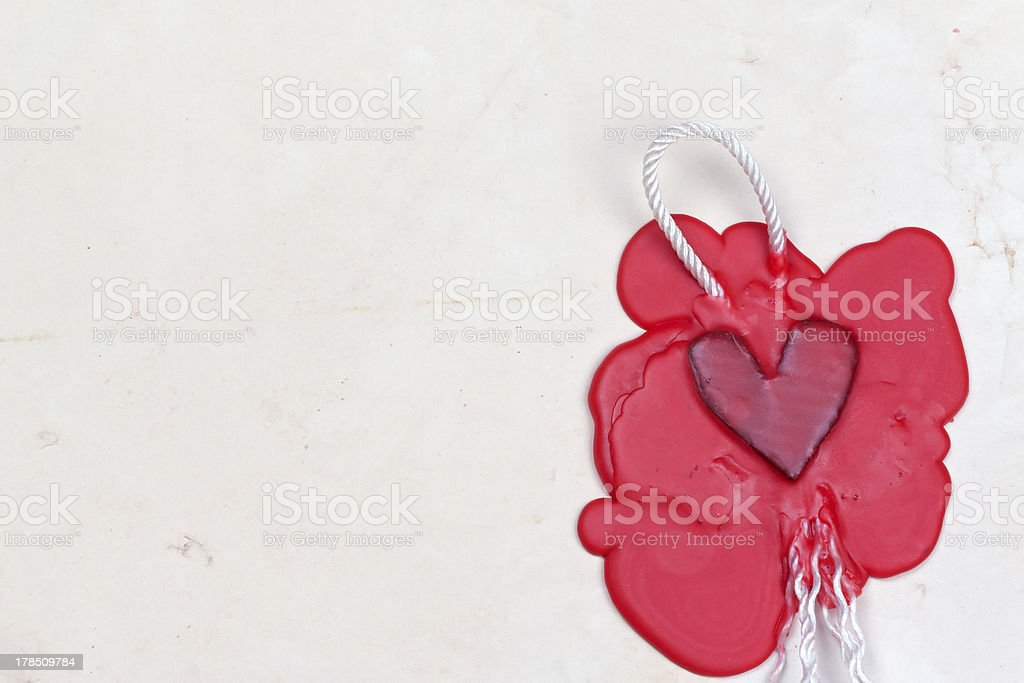 mark in the shape of heart royalty-free stock photo